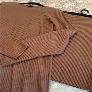 Brown skirt and top sweater set